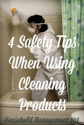 4 safety tips when using home cleaning products