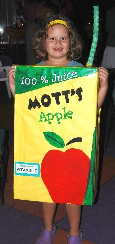 homemade apple juice box costume