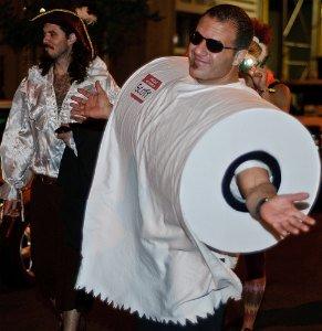 homemade toilet paper roll costume