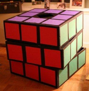 homemade rubix cube costume