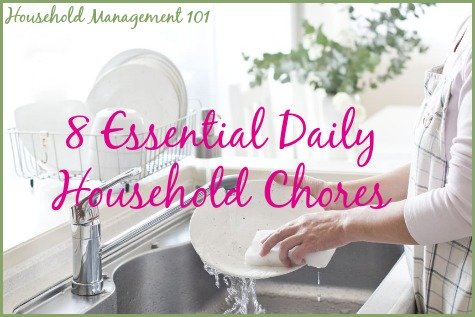 Daily House Cleaning Schedule 8 Essential Daily Household Chores – Sample House Cleaning Checklist