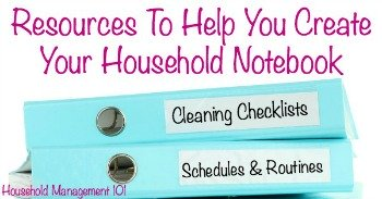 Resources to help you create your household notebook