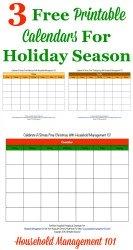 3 free printable calendars for holiday season