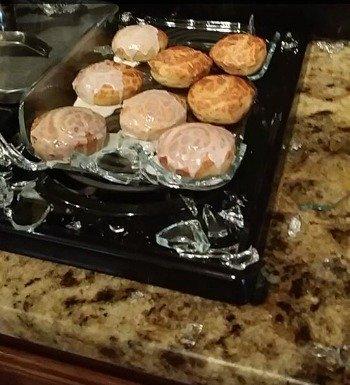 broken pyrex baking dish