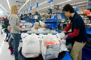 checking out of wal-mart