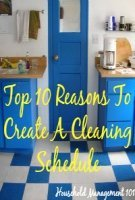 Reasons To Create A Cleaning Schedule