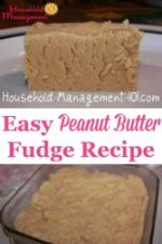 Easy Peanut Butter Fudge Recip