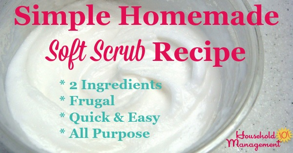 Simple homemade soft scrub recipe {on Household Management 101}