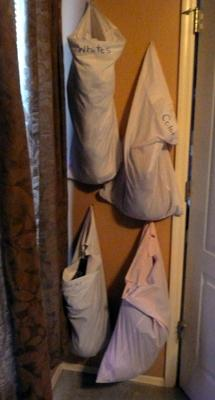 DIY Laundry Bags - Sort Your Dirty Clothes At Their Source