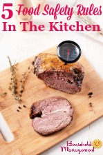 5 Food Safety Rules In The Kitchen