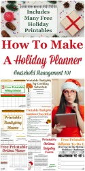 How To Make A Holiday Planner