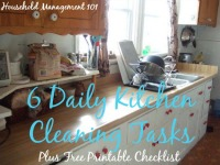 6 daily kitchen cleaning tasks
