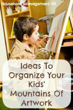 How To Organize Kids' Artwork