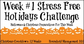 Week #1 Stress Free Holiday Challenge
