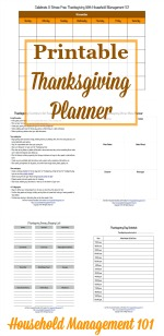 Thanksgiving Planner
