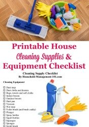 House Cleaning Supplies & Equipment Checklist