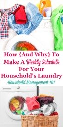 Weekly Schedule for Your Household's Laundry
