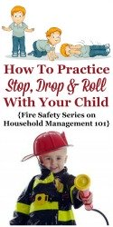 How To Practice Stop Drop And Roll With Your Kids